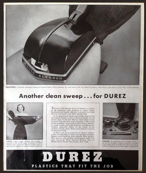 Durez® ads - 1939...