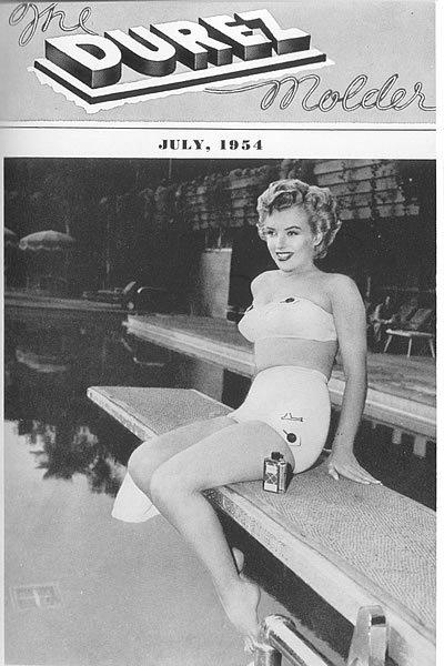 The Durez Molder magazine, featuring Marilyn Monroe in 1954